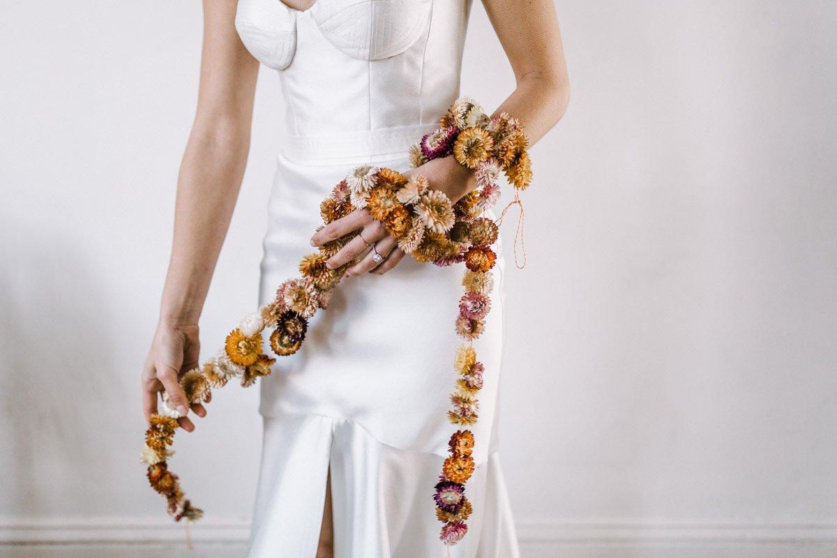 Karen Willis Holmes gown fern and stone Polka Dot Bride