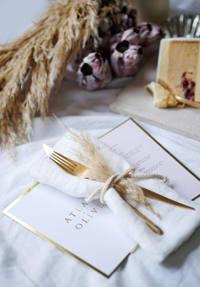 Karen Willis Holmes gown fern and stone Polka Dot Bride bouquet