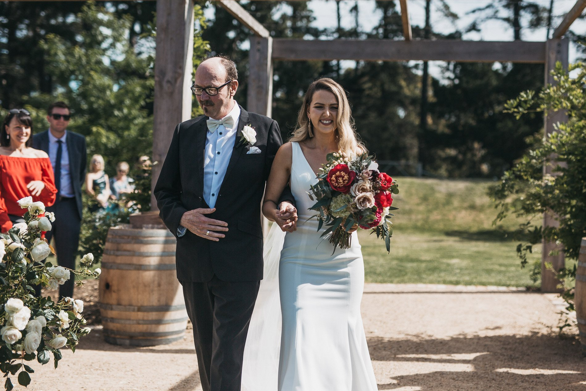 bride and groom Panton Vineyard wedding fern and sone photography red hill wedding