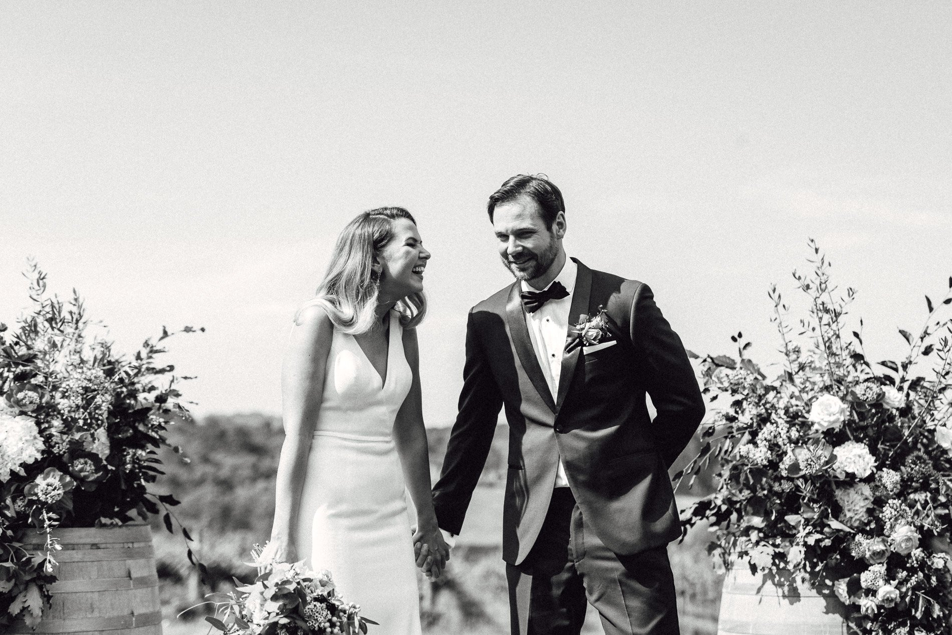 bride and groom Panton Vineyard wedding fern and sone photography red hill wedding bride and groom during ceremony