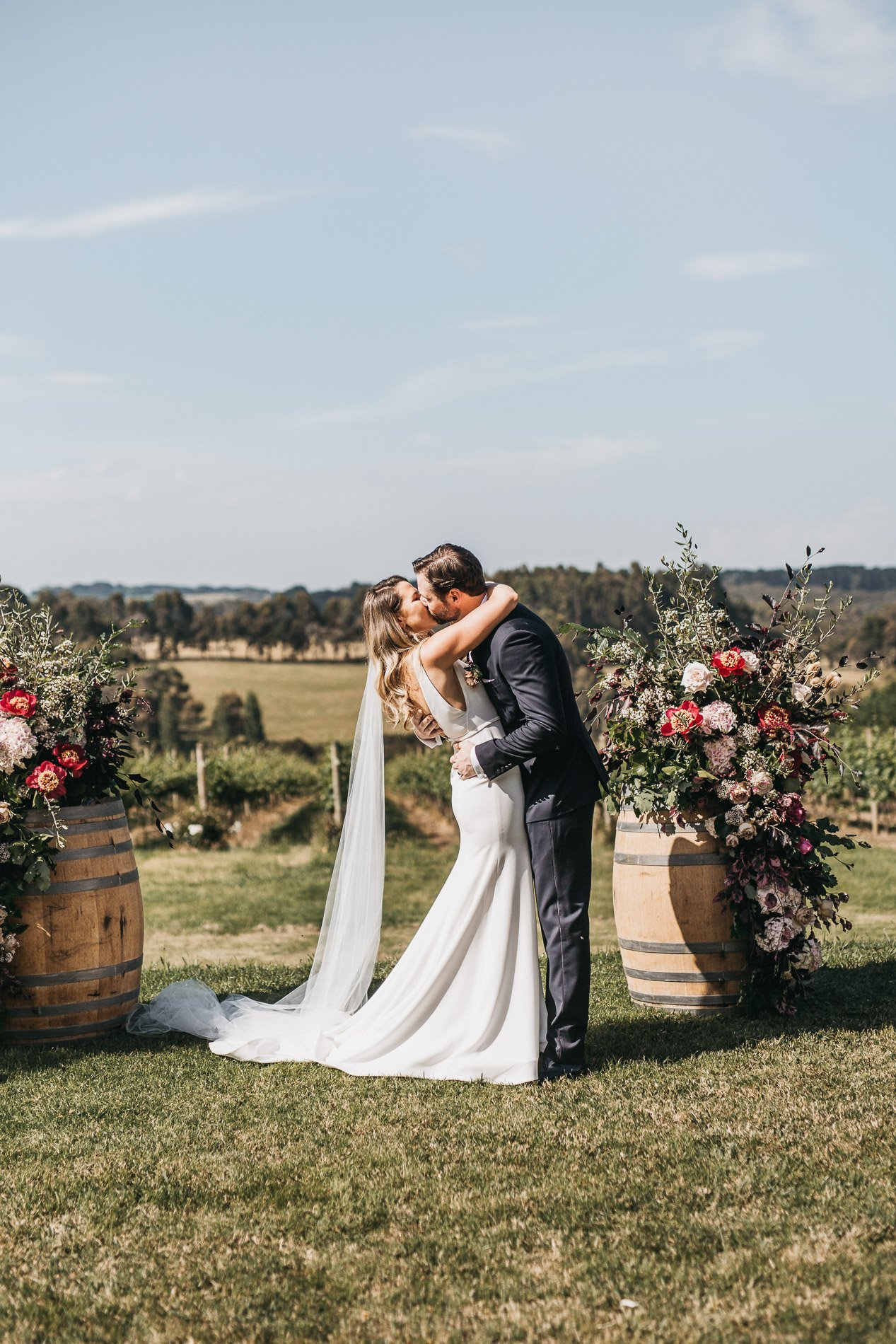 first kiss red hill wedding