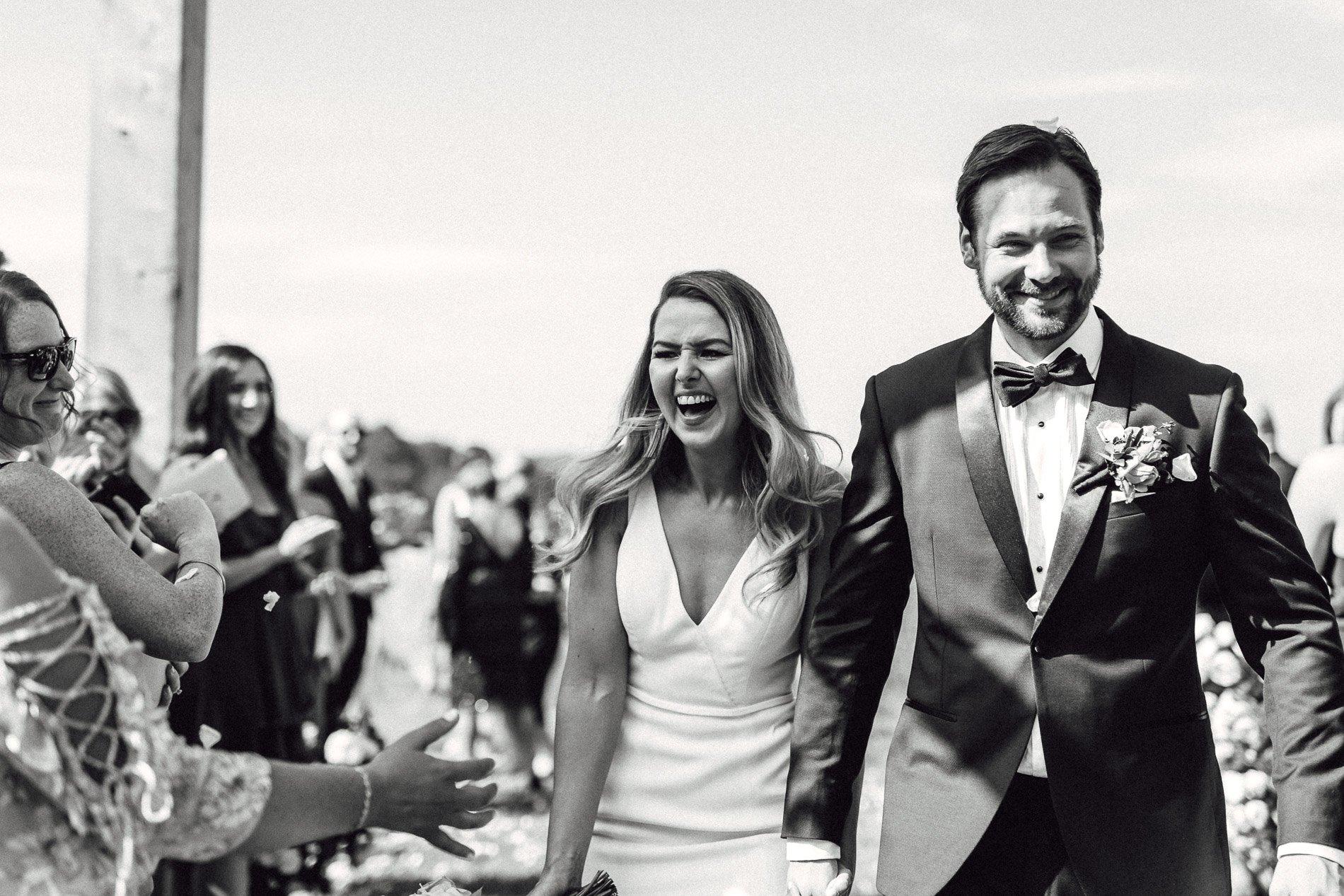 bride and groom Panton Vineyard wedding fern and sone photography red hill wedding confetti photo