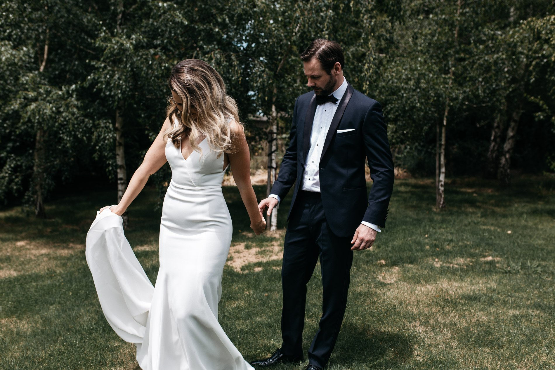 Fern and stone photography bride and groom red hill wedding