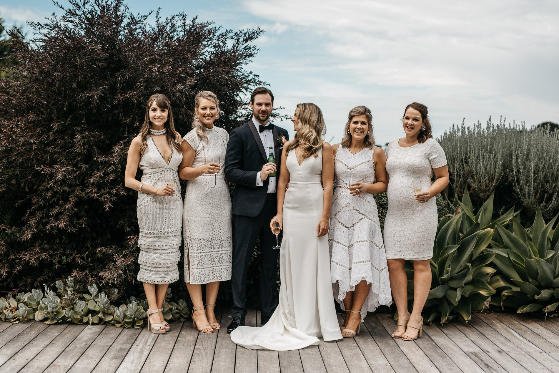 Fern and stone photography epicurean house bridal party