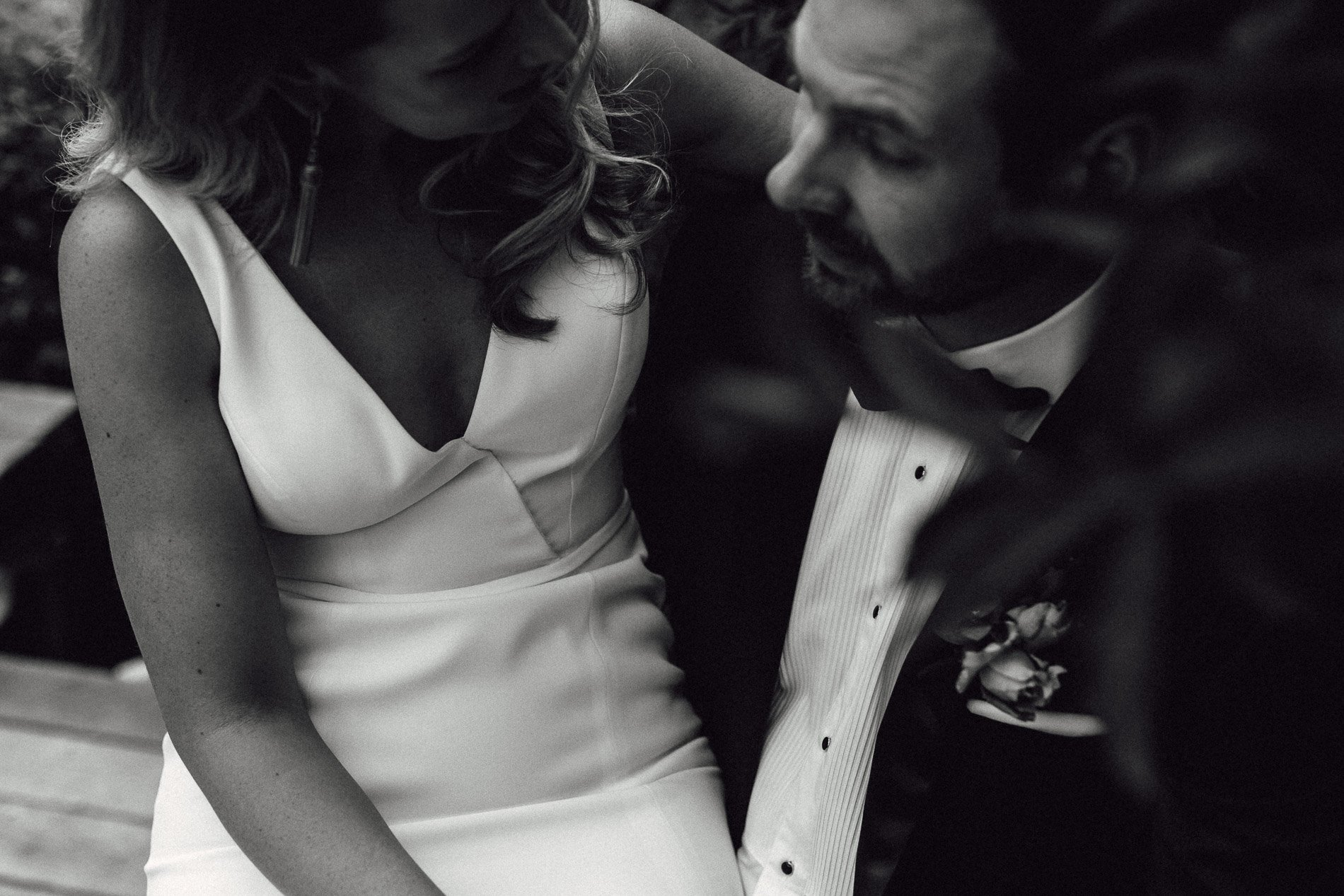 Fern and stone photography epicurean house bride and groom